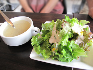 3スープとサラダ@ワンパーク大濠