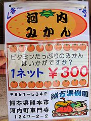 16店内:緒方果樹園の河内みかん・熊本@因幡うどん・渡辺通店