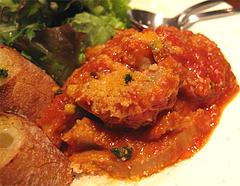 夜:トリッパのトマト煮込みアップ@イタリアン・トラットリア・ ウーノ(Trattoria-Uno)
