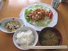 ランチ:チキンサラダ定食500円@キッチンハウスあをい(あをい食堂)・平尾