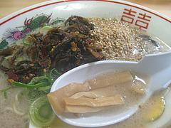 10ランチ:辛子高菜・ゴマ・メンマ@長浜ラーメン・よつば屋・西新