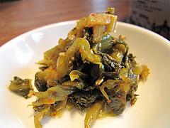 料理:辛子高菜@ごちそうラーメン一番山・大橋本店