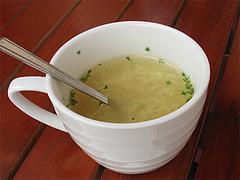 ランチ:洋風かき玉スープ@渡辺通りスタンド・Ruston(ラストン)・電気ビル裏
