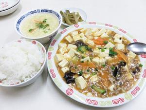 5麻婆豆腐定食500円@万里長城