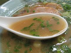 料理:ラーメン(醤油とんこつ)スープ@長浜ラーメン味心・雑餉隈