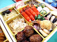 料理:斜め空撮@2011セントラルホテル福岡お節(おせち)・三の重