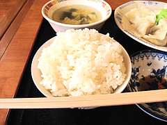 料理:白ご飯@好吃餃子(ハオツーギョウザ)