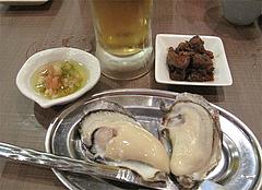 5料理:ほろ酔いセットB・サルサソース@牡蠣やまと・鉄板居酒屋・赤坂・料理:生ビール@牡蠣やまと・鉄板居酒屋・赤坂・オイスターバー