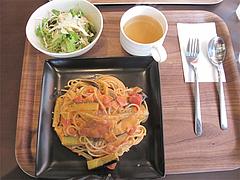 12ランチ:茄子とベーコンのトマトクリームパスタ900円@baby's cafe(ベイビーズカフェ)・ドッグカフェ