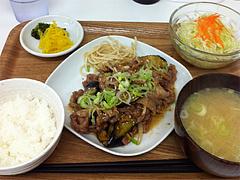 4ランチ:なす味噌定食650円@定食屋・ごはんのアロハ・春吉