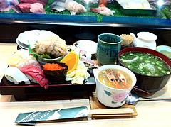料理:ランチのすし定食1,050円@鮨あつ賀・福岡
