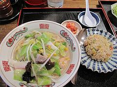 5ランチ:大連風ちゃんぽん+半野菜炒飯@大連屋台料理Lee(李・リー)