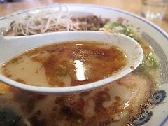 料理:ぶしラーメンスープ@一龍・小倉駅前