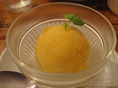料理:セットのマンゴージェラート@タイ料理オシャ・大橋