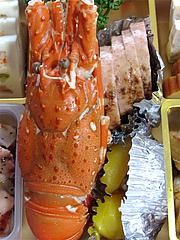 料理:焼ロブスター・ジャンボ八幡巻・栗きんとん・チーズ@2011セントラルホテル福岡お節(おせち)・二の重