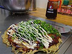 お好み焼『みつ』肉そば玉にマヨシャワー@広島市中区