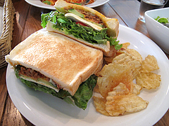 13ランチ:チリミートサンドイッチ@サンディッシュ・カフェ・美野島