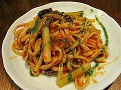 料理:和牛ハチノスのトマトパスタ@煮込み白金店