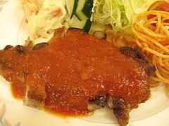 14ランチ:豚ロースステーキ空撮@定食の味作食堂