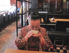 6店内:テーブル席@だご汁&カフェ・阿蘇商會(商会)・マイステイズイン福岡天神南