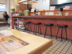 店内:カウンター席@ラーメン・かなで食堂・春日