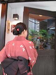 外観:入り口@博多つけ蕎麦かんた・電気ビル裏