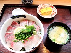 料理:ごまかんぱち丼セット880円@海鮮丼・日の出・薬院