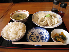 料理:水餃子定食@好吃餃子(ハオツーギョウザ)