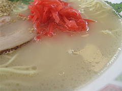 料理・博多ラーメンのあっさりスープ@博多ラーメンはかたや筑紫通店