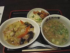 16ランチ:小さい中華丼セット650円@ラーメン居酒屋・長浜将軍・門