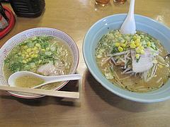 料理:ラーメンと味噌ラーメン@札幌ラーメン・北海・老司