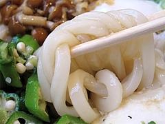 料理:スタミナぶっかけ(冷)の麺@ウエストうどん渡辺通り店