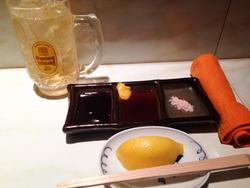3セッティング@串の店・うえむら