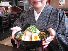 ランチ:緑豚骨ラーメン650円@拉麺・空海・那珂川本店