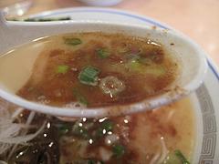 料理:ぶしラーメンスープアップ@ラーメン一龍・小倉
