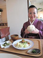 1ランチ:日替わり定食・ハンバーグ700円@kitchen green(キッチングリーン)・別府