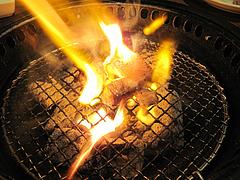 料理:燃える・黒毛和牛のトロホルモン(塩ダレ)490円@牛角・東比恵店