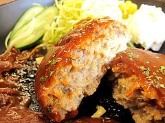 料理:ハンバーグ食べる@博多金龍ラーメン・長住