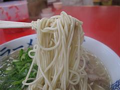 料理:ラーメン麺@元祖長浜家ラーメン・中央区港