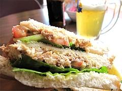 サンドイッチのアップ@インターネットカフェ・レストラン・キャットクレア・グアム