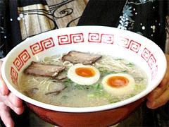 料理:博多ラーメン+煮玉子120円@めんくいや・福岡市中央区渡辺通