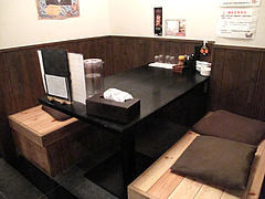 5店内:ボックス席@麺屋極み清川店・ラーメン居酒屋