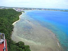 恋人岬の展望台からの眺め@グアム・恋人岬