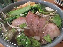料理:醤油ヌードル(バーミーナーム)650円@タイ料理オシャ・大橋