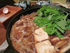 料理:地鶏鍋出来上がり@湯の岳庵・亀の井別荘