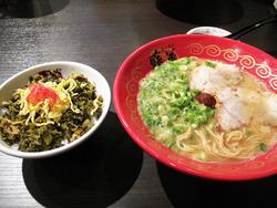 11ラーメン+ミニチャーシュー高菜丼@暖暮・西新