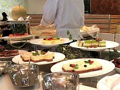 店内:デザートコーナー@クラウンカフェ・ANAクラウンプラザ