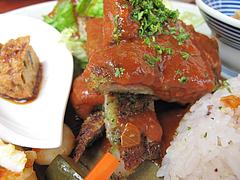 ランチ:豚の香草パン粉焼きトマトのケッカソース@渡辺通りスタンド・Ruston(ラストン)・電気ビル裏