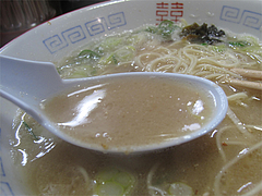 料理:ラーメンスープ@麺屋多吉・ラーメン・大橋