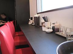 店内:窓際カウンター席@麺屋まつけん・渡辺通・電気ビル裏